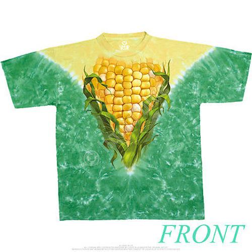 d504df0551f04b Corn On The Cob Ear Food Sweet Yummy 2 Sided Grain Plant V Tie-Dye T ...