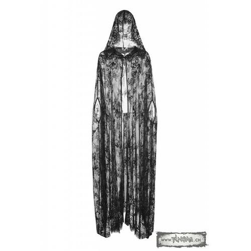 Punk Rave Veil of Rain Lace Victorian Gothic Lolita Hooded Cape Cloak WY-825