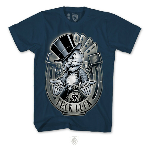 79367c399 OG Abel Monopoly Hustle Luck Rich Uncle Pennybags Ink Men's Tee Shirt  A0439-NVY