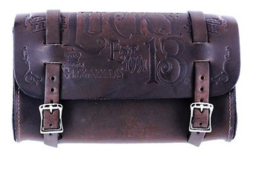 Lucky 13 Lone Wolf Embossed Genuine Leather Biker Tattoos Chain Wallet LAWC9LW