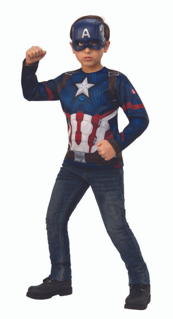 Rubies Marvel Avengers Endgame Captain America Top Mask Halloween Costume 700721 Fearless Apparel Official rubie's product from the captain marvel range. rubies marvel avengers endgame captain america top mask halloween costume 700721
