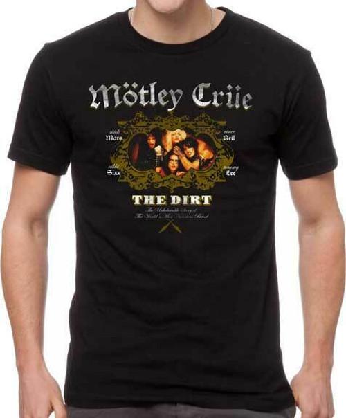 e58632ee Motley Crue The Dirt Heavy Metal Glam Classic Rock Music Band T Shirt  MOT10264