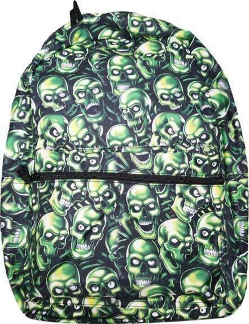 Juicy J Green Skull Pile Goth Skeleton Demon Ghoul Punk Long