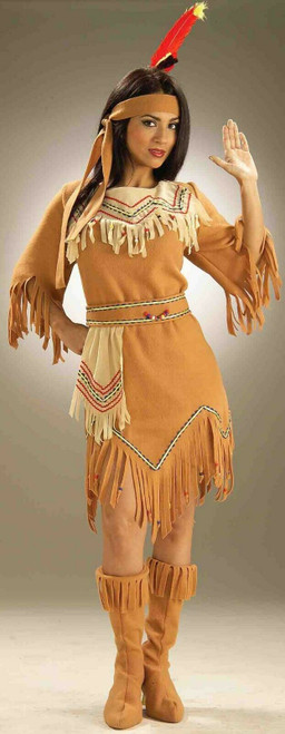 38ee8b3b050 Smiffys Native American Indian Inspired Adult Womens Halloween ...