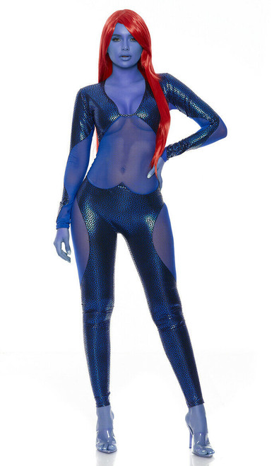 1667a63501b Forplay Sexy Mysterious Superhero Catsuit Adult Womens Halloween Costume  557715