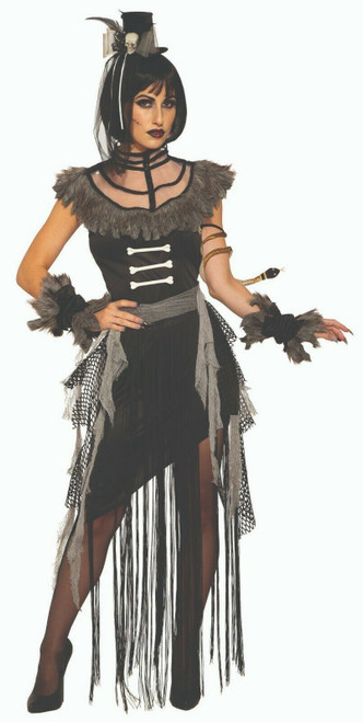 Underwraps Voo Doo Priestess Witch Doctor Adult Womens Halloween Costume 28603 Fearless Apparel
