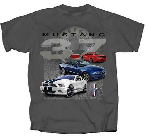 STAMPEDE IS LOUDER THAN A HEARTBEAT FORD MUSTANG T SHIRT
