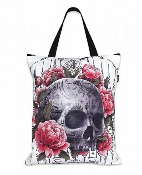 Liquor Brand Search and Destroy Praying Skeleton Goth Punk Tote Bag LB-TOB-00108