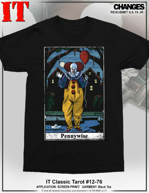 IT Movie T-shirt Clown Balloon Stephen King Pennywise Horror Scary Film Tee T