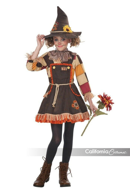 California Costume Pumpkin Patch Scarecrow Toddler Girls Halloween Costume 00177