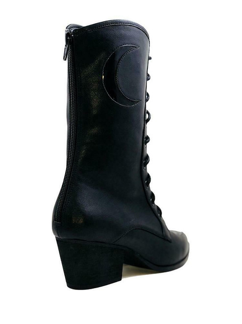 Demonia Gothic Punk Winklepicker Witch Granny Ankle Boots High Heels Fury 110