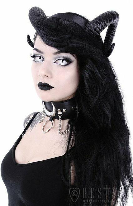 Restyle Sinister Ram Horns Gothic Punk Evil Satan Devil Occult Witchy Headband