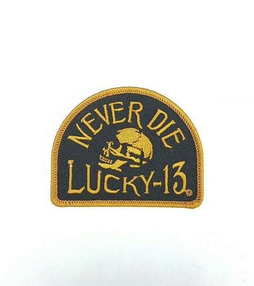 Lucky 13 Skully Motel Leather Biker Goth Punk Motorcycles Key Chain LAKC625MT
