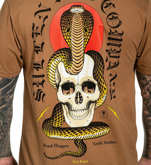 Sullen Art Snake Wash King Cobra Roses Flowers Punk Tattoos Ink T Shirt SCM2401