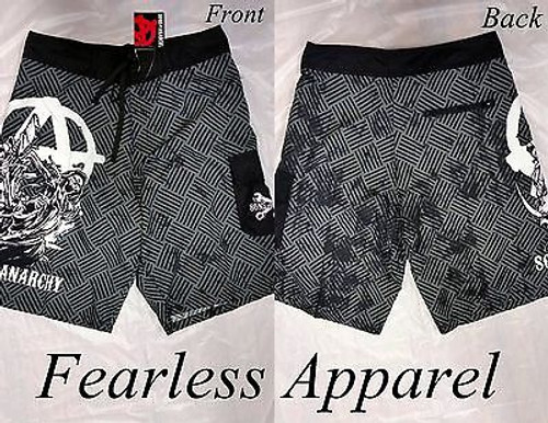 Authentic Sons Of Anarchy Reaper Crew Soa Gray Grey Board Shorts