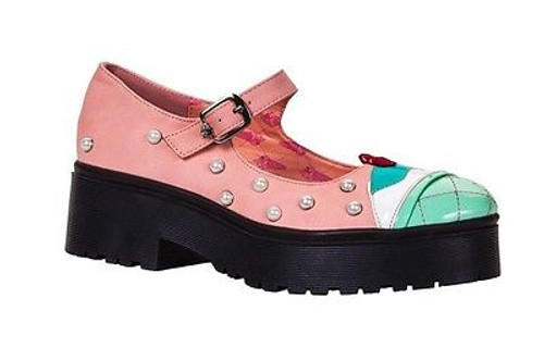 58ae7418eab IRON FIST LICK ME HEAVY SOLE FLATS PINK MINT PEARL SHOES WOMENS SIZE 7-10