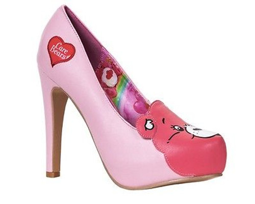 ebd4f2072f6 IRON FIST CAREBEARS STARE PLATFORM CARE BEAR PINK MAGIC HEELS SHOES SIZE 7-9