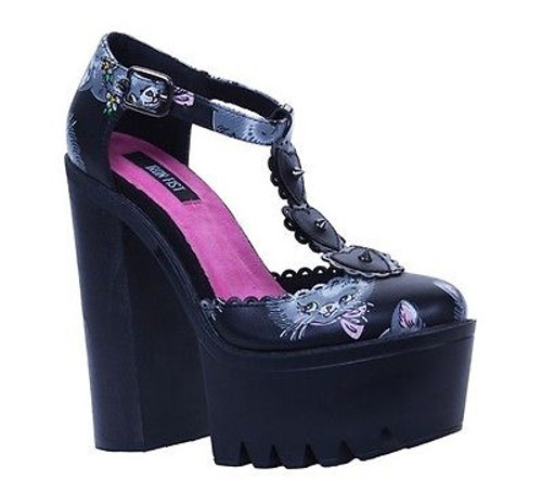 4847baee70e IRON FIST CAT LADY SUPER PLATFORM KITTY SWEET CUTE DARK HEELS SHOES SIZE  7-10