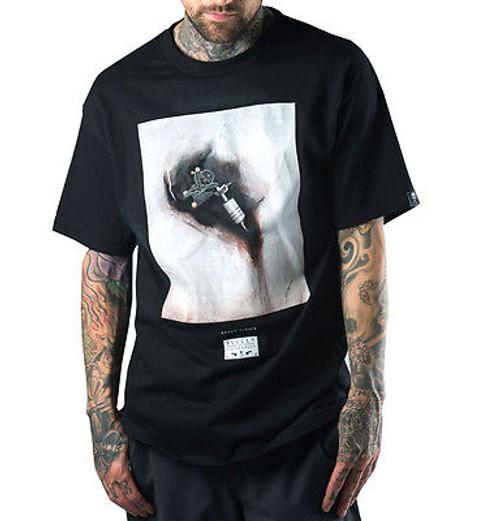 SULLEN CLOTHING SHAWN BARBER MACHINE ARTWORK TATTOO ROCK GOTH BLACK ...