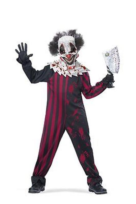 Childrens Killer Clown Circus Creepy Scary Kill Halloween Costume M-Xl 00398