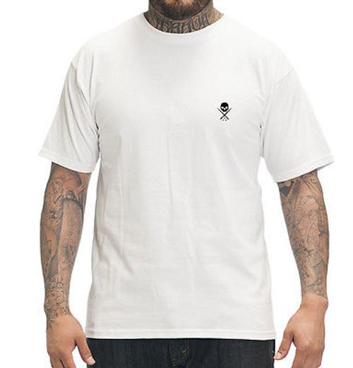 a78b88d8bc0314 Sullen Clothing Standard Issue Skater Biker Skull Goth Punk White T Shirt  S-5Xl