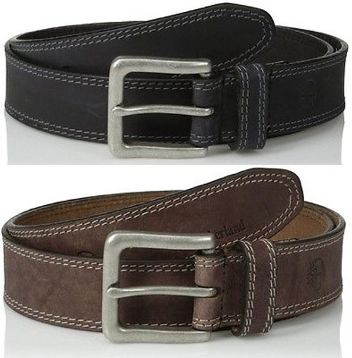 da0a86fe86e Timberland Mens 35Mm Boot Leather Jean Belt Casual Rugged Genuine Black &  Brown