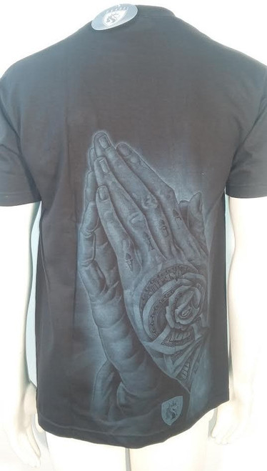 ab8422c49b ... OG Abel Money Rose Hands Floral Punk Pray Urban Tattoo Gothic Ink Shirt  A0385