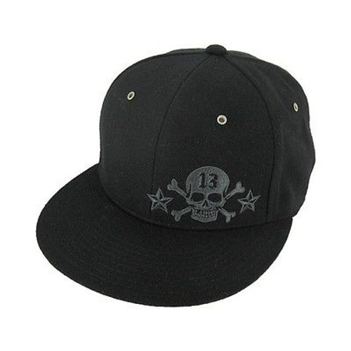 0a3dba01e36cb Lucky 13 Skull Thirteen Metal Rivet Tattoo Star Rockabilly Goth Trucker Hat  Cap
