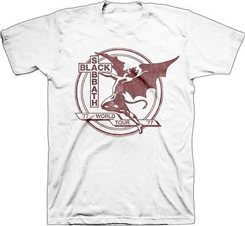 956e32f7 AUTHENTIC BLACK SABBATH WORLD TOUR '77 CLASSIC ROCK MUSIC T TEE SHIRT S-2XL