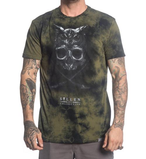 34c0901428ff7c Sullen Matt Jordan Premium Lava Wash Tattoo Urban Skull Owl Mens Shirt  SCM1364