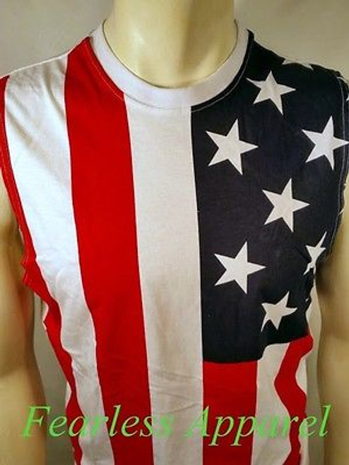 169d6729 ... Usa Distressed American Flag Patriotic 4Th Of July America Muscle Tank  Top Shirt ...
