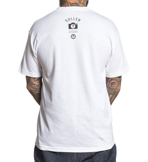 Sullen Clothing Life Tattoo Machine Punk Ink Adult Mens White Tee ...