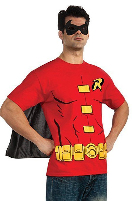 Rubies DC Comics Flash Barry Allen Adult Mens Halloween Costume Shirt 887429