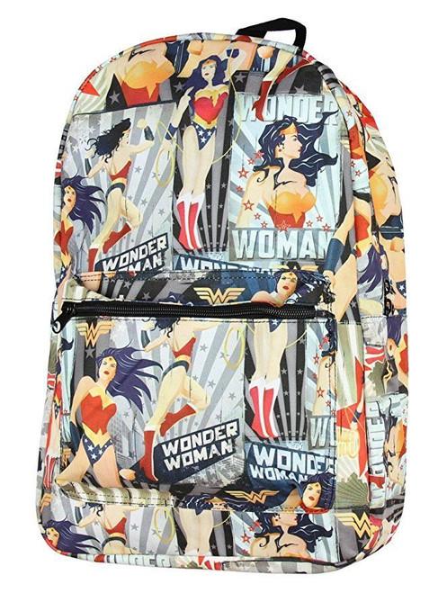 sale retailer a6480 e9a2e DC Comics Wonder Woman All Over Print Superhero School Bag Backpack  BQ5MB6DCO