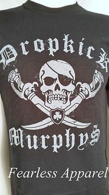 DROPKICK MURPHYS JOLLY ROGER IRISH MUSIC CELTIC PIRATE PUNK ROCK SHIRT S-2XL