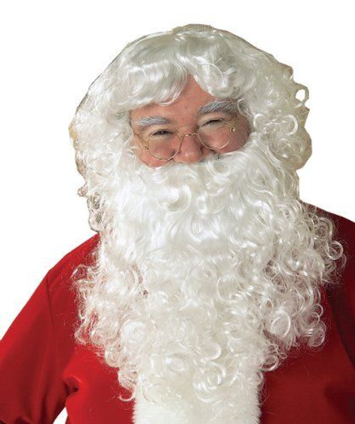 4f06371e363c1 Rubies Adult Santa Clause Economy Beard Wig Set Christmas Xmas Costume 2269