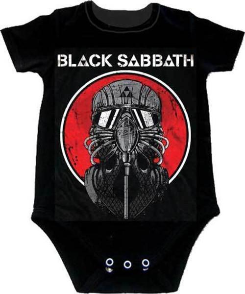 157954c9 Black Sabbath Never Say Die Mask Rock Metal Music Band Guitar Baby Infant  Onesie ...