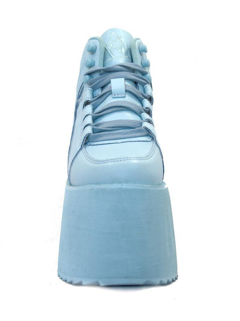 1dcd0086e2e YRU Youth Rise Up Qozmo Hi 2 Blue Womens Shoes Platform Sneaker Tall Goth  Punk