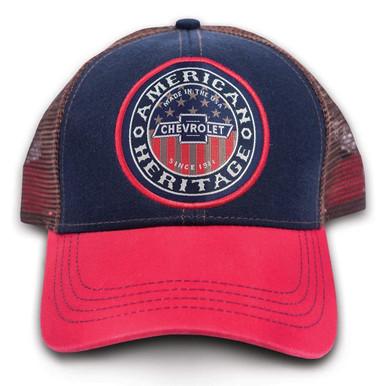 7240c48b4f7 Chevy Chevrolet American USA Grit Heritage Baseball Mesh Trucker Cap Hat  9114 - Fearless Apparel