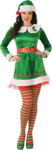 Rubies Elf Santa Claus Helper Adult Jumper Christmas Xmas Holiday Costume 821165