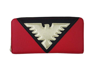 Loungefly Marvel Comics Dark Phoenix X-Men Faux Leather Zipper Wallet MVWA0078