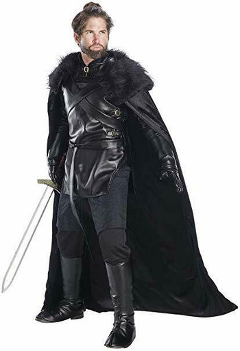 Underwraps Renaissance Cape Cloak Fur Black Adult Mens Halloween Costume 28544