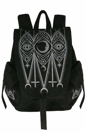 Restyle Witchcraft Pentagram Gothic Punk Faux Leather School Book Bag Backpack