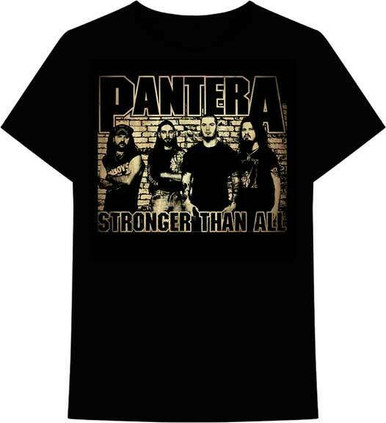 Pantera Brick Wall Stronger Than All Thrash Metal Music Band T Shirt 31511353