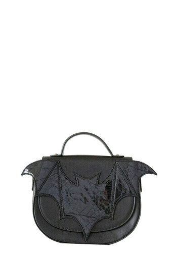 Banned Gothic Victorian Flocked Cameo Dragon Bats Shoulder Bag Handbag Goth Punk
