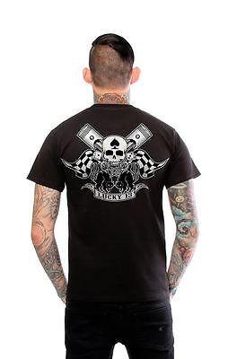615e76d88 Lucky 13 Black Cat Piston Motorcycle Punk Tattoo Biker Club Goth T Shirt  S-4Xl