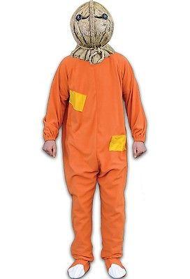 Trick R Treat Sam Burlap Jack-o-Lantern Halloween Costume One Size Mens  TTLE101