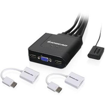 2Prt USB VGA Cab KVM w DP