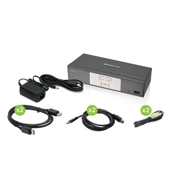2Port DP KVMP w USB Hub
