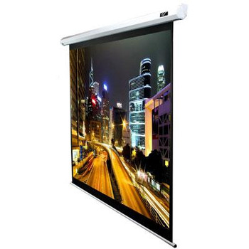 """84"""" Electric Screen White Top"""